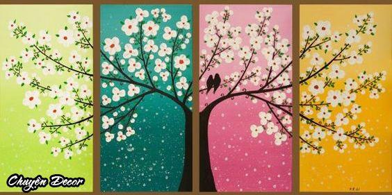 Các loại tranh canvas tranh thiết