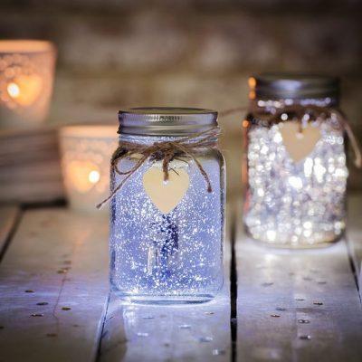 Dây đèn led với lọ thủy tinh
