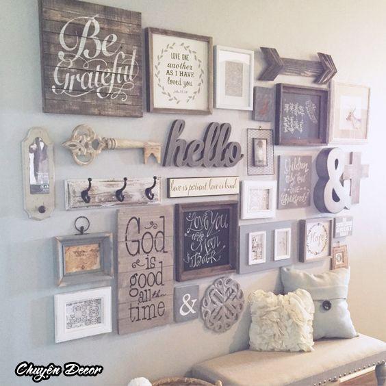 Châm ngôn khung gỗ treo tường