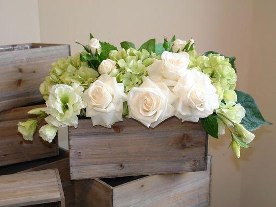 Chậu gỗ đựng hoa