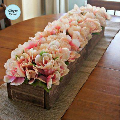 Chậu hoa gỗ