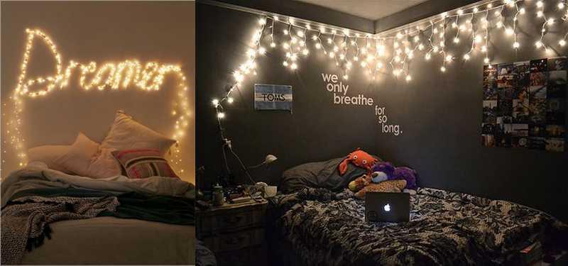 Dây đèn trang trí phòng ngủ