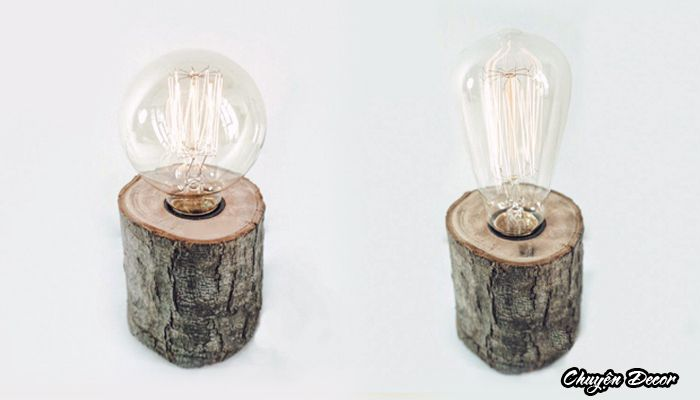 Đèn thân gỗ gốc cây