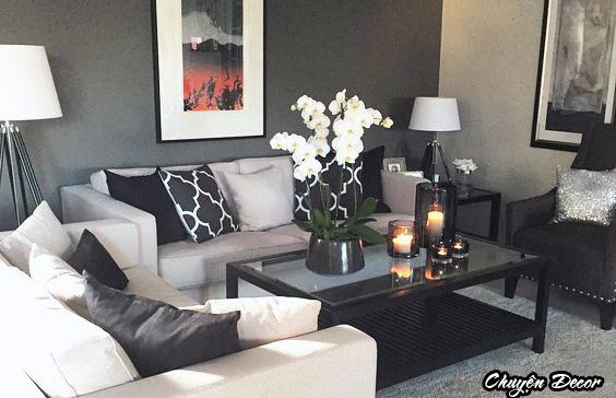 Hoa trang trí phòng khách đẹp