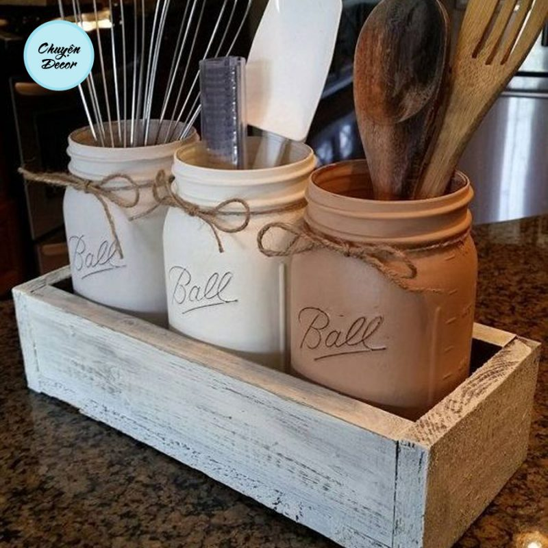 Hộp gỗ để phòng bếp